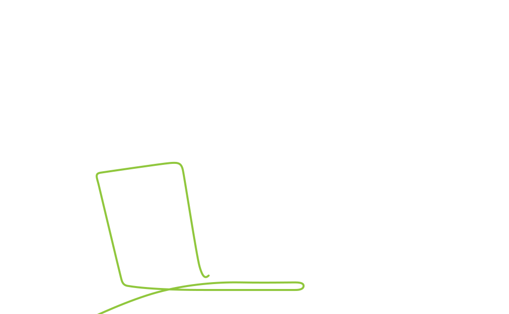 A person on a laptop