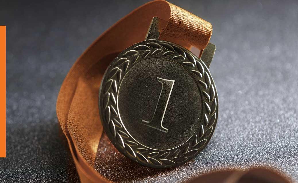 A number 1 medal