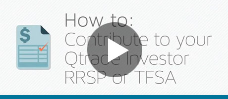 How to contribute to an RRSP or TFSA with Qtrade Investor